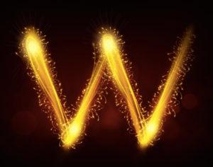 Sparkly W