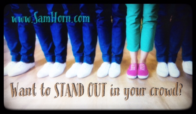 stand out text image