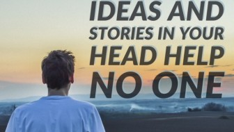 ideas and stories in head - middle